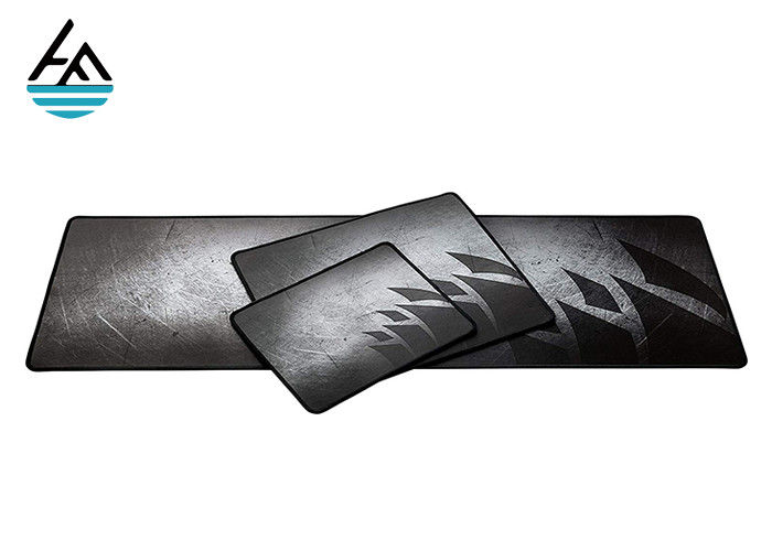 Locked Edge Neoprene Mouse Pad  , Gray Gaming Mouse Pads Non Toxic Material